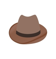 Cowboy hat isometric 3d icon vector image vector image