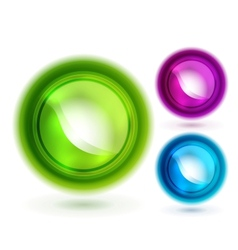 liquid buttons vector image vector image