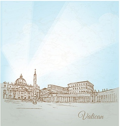 vatican city background vector image vector image
