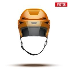 Classic orange Ice Hockey Helmet with glass visor vector image vector image