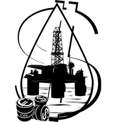 crude oil production vector image vector image