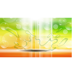 digital yellow red and green abstract vector image