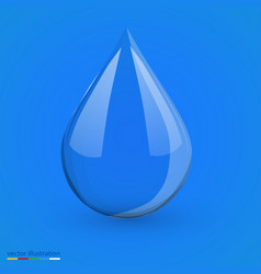 water drop on blue isolated vector image