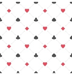 Casino seamless pattern vector image