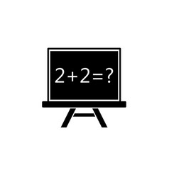 chalkboard solid icon education school element vector image