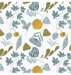 fruit and leaves vector image vector image