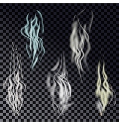 isolated realistic cigarette smoke waves vector image