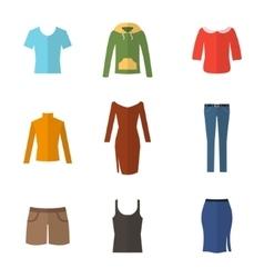 Woman clothing set vector image