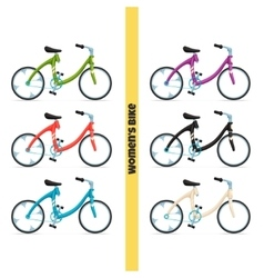 Womens Bike One vector image vector image