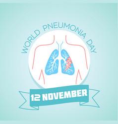 12 november world pneumonia day vector
