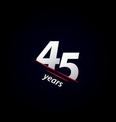 45 years anniversary celebration black and white vector