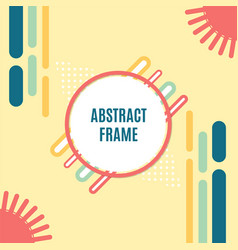 abstract geometric background with circle frame vector image