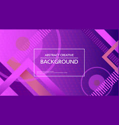 Abstract vivid background in geometric lines vector