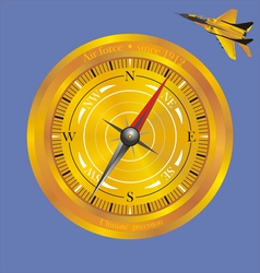 Air golden compass vector