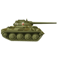 An armoured tank vector image