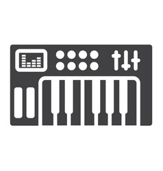 analog synthesizer glyph icon music instrument vector image