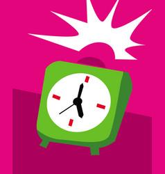 annoying alarm clock needs attention vector image