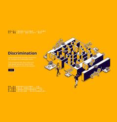 banner discrimination gender inequality vector image