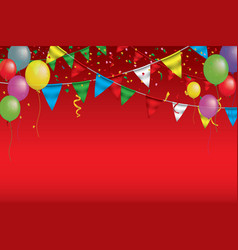 banner for carnivalhappy birthday typography vector image