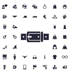 Belt icon vector