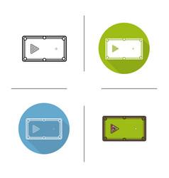 billiard table icon vector image