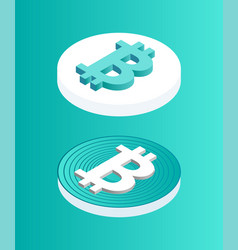 blockchain set coins icon vector image