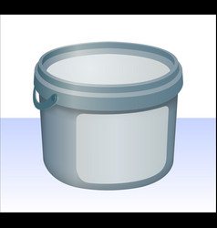 blue plastic bucket vector image