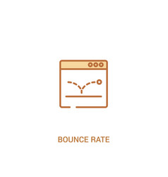 Bounce rate concept 2 colored icon simple line vector