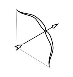 Bow and arrow black color icon vector