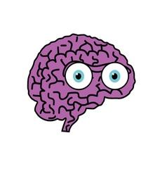 brain violet cartoon vector image