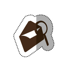 brown letter with magnifying glass icon vector image