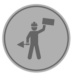 builder silver coin vector image