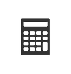 calculator icon isolated accounting symbol vector image