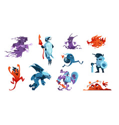 cartoon game monsters alien creatures and mascot vector image