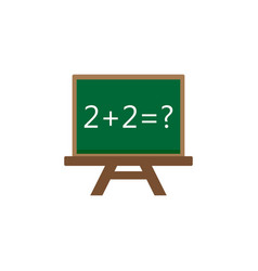 chalkboard flat icon education and school element vector image