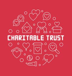 charitable trust round outline vector image