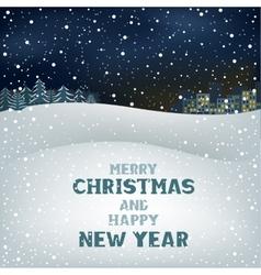 Christmas winter night vector