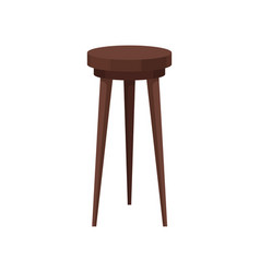 Classic wooden bar stool high brown chair with vector
