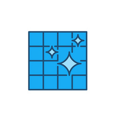 clean tiles linear concept colored icon vector image