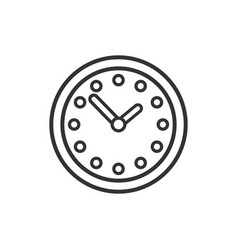 Clock time icon silhouette isolated on white vector