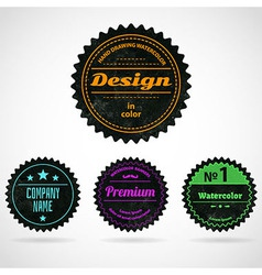 Color badges vector image
