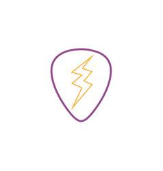 Color line rock emblem with thunder symbol design vector