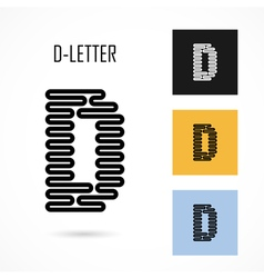 Creative d - letter icon abstract logo design vector