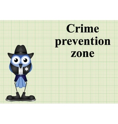 Crime prevention zone USA vector