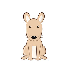 Cute cartoon rodent vector