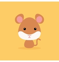 Cute Cartoon Wild mouse vector