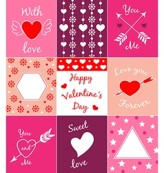 Decorative cards for Valentines day vector