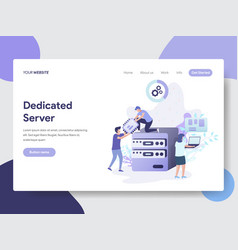 dedicated server concept vector image