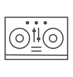 dj mixer thin line icon music and sound vector image