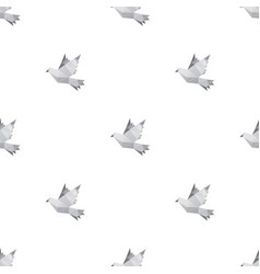 dove triangle seamless pattern backgrounds vector image
